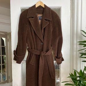 Vintage Burberry Alpaca & Wool Coat